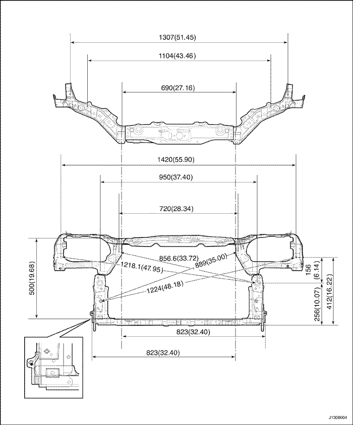 контрольные точки геометрии кузова chevrolet-lacetti универсал