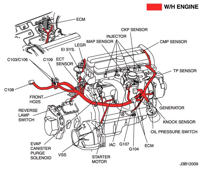 Схема двигателя lacetti