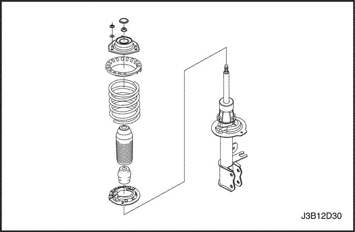 задняя стойка chevrolet lacetti в сборе