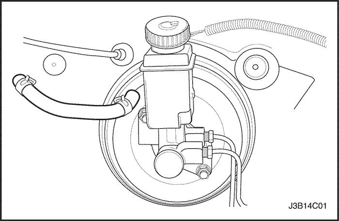 к чему подключается вакумный шланг тормозного цилиндра