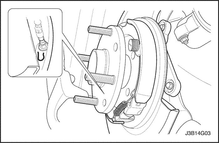 регулировка колодок стояночного тормоза chevrolet lacetti
