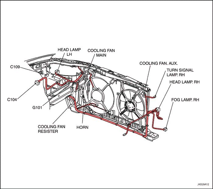 Схема фары на лачетти