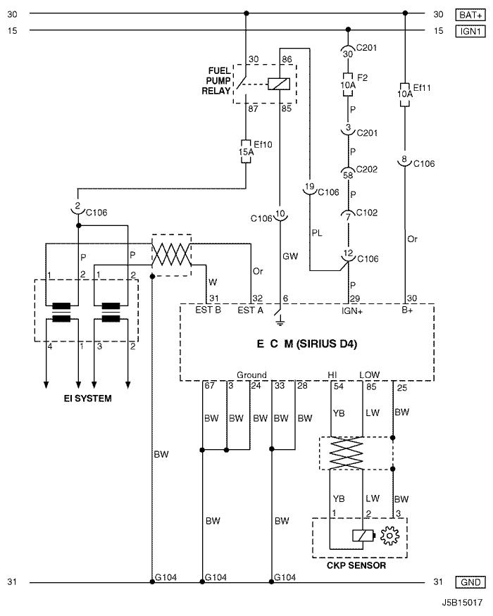 Электросхемы 4. ecm (engIne