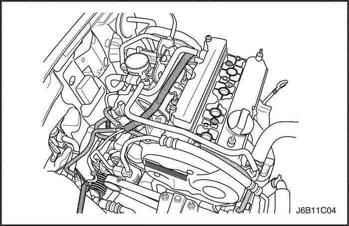 жидкость двигателя.