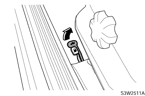 Рычаг отпирания крышки