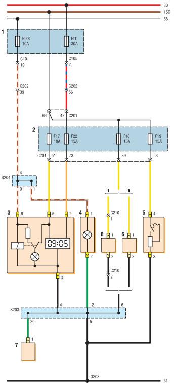 Схема соединений часов