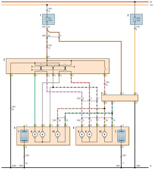 Схема соединений наружных
