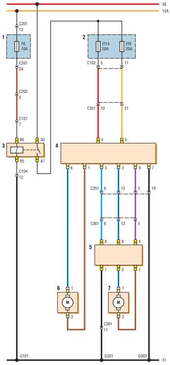 stek - Электростеклоподъемники подключение проводки правой двери